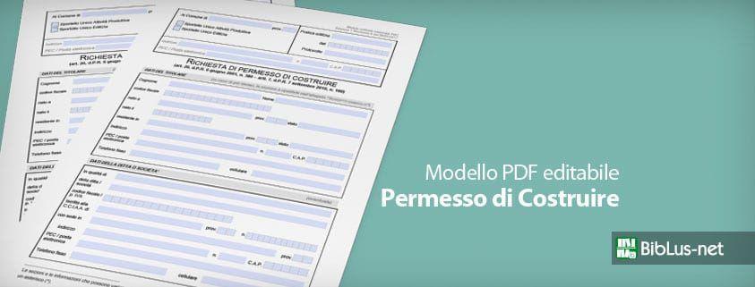 Permesso di Costruire: il modello PDF editabile - BibLus-net
