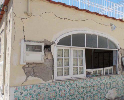 Edificio in Muratura - Via D'Aloisio Località la Rita – Casamicciola Terme Lesioni nel piano della parete : post-evento