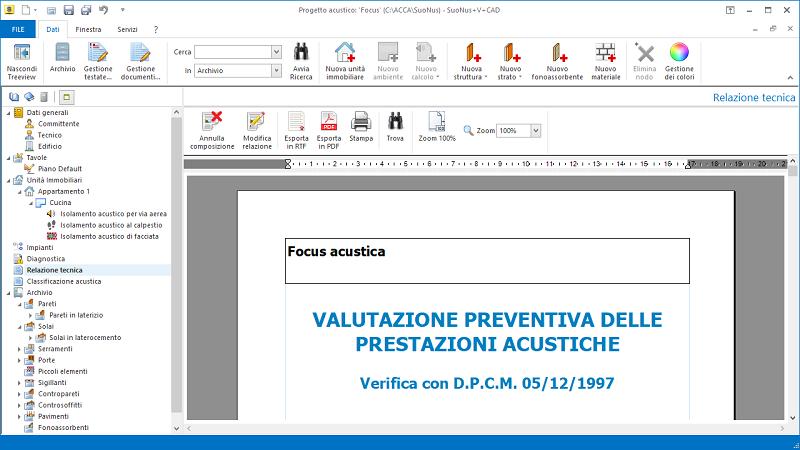 Valutazione preventiva prestazioni acustiche - Relazione tecnica: valutazione preventiva delle prestazioni acustiche dell'edificio