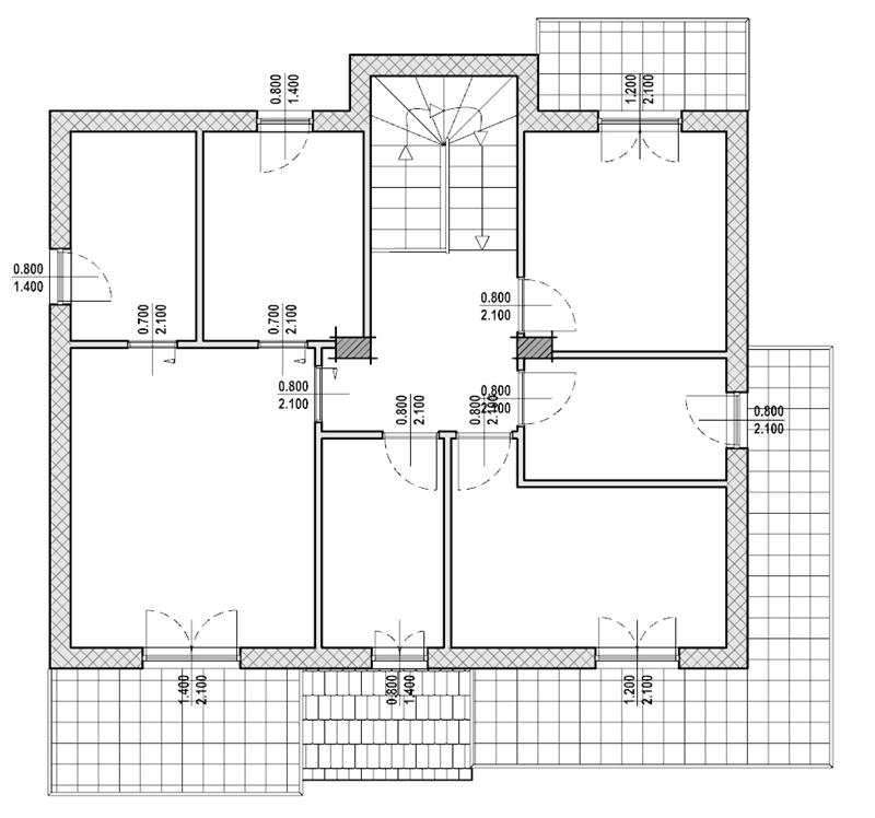 Questa immagine rappresenta la pianta del piano primo dell'abitazione