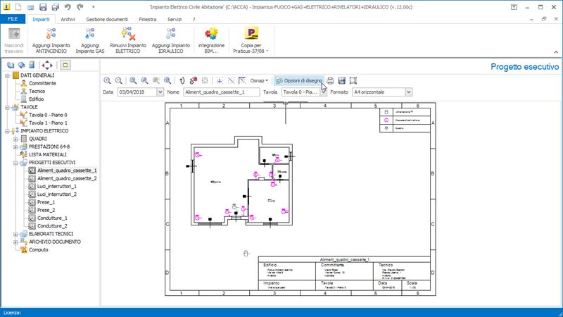 Guida impianto elettrico (PARTE 4): esempio progetto con lausilio ...