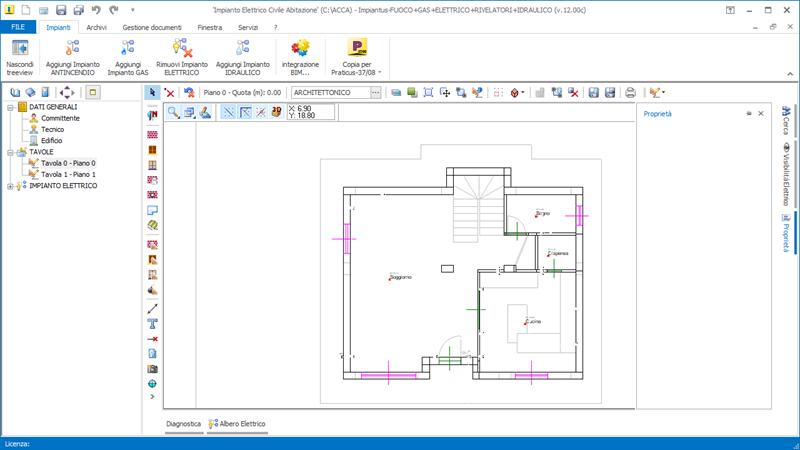 Guida impianto elettrico parte 4 esempio progetto con l for Disegnare un progetto