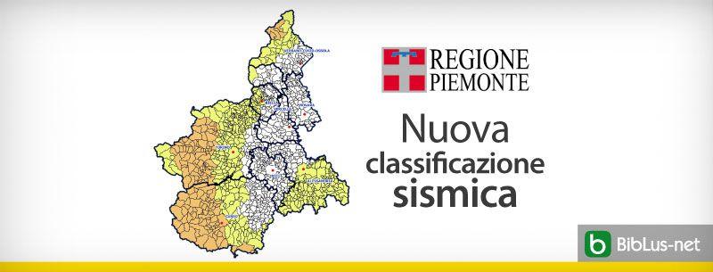 Nuova classificazione sismica regione piemonte