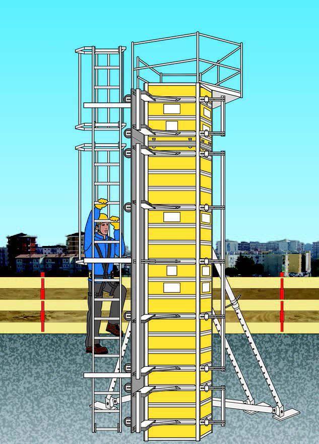 Immagine a colori che mostra una cassaforma verticale a telaio per pilastri