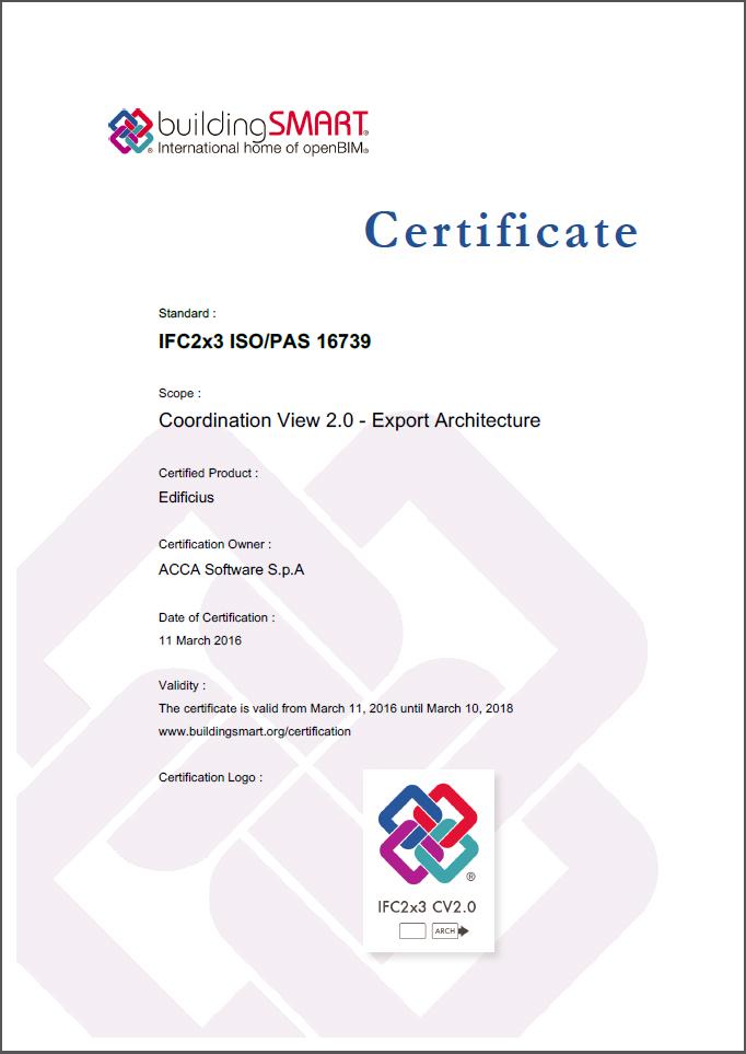 6 - Certificato IFC Edificius