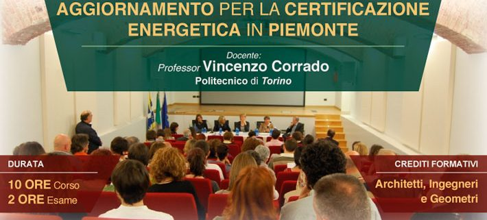 Corso certificazione energetica Torino