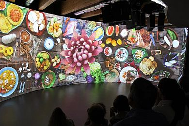 Expo 2015 - Padiglione Colombia - I video wall sul cibo