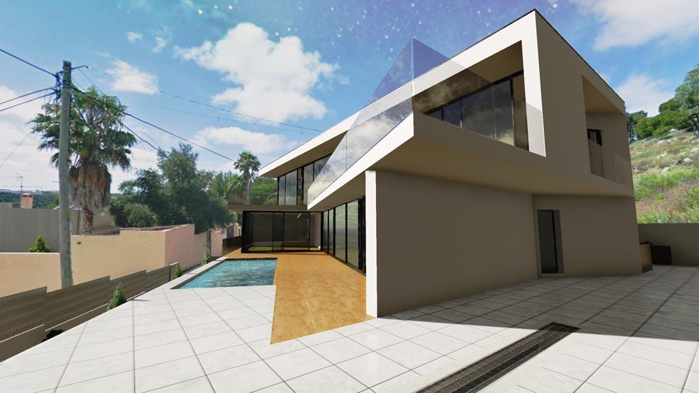 Casa jc il progetto della bellissima residenza moderna a for Progetto casa moderna