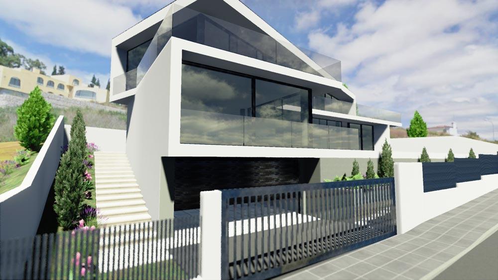 Casa jc il progetto della bellissima residenza moderna a forma di trapezio biblus net - Progetto di casa moderna ...