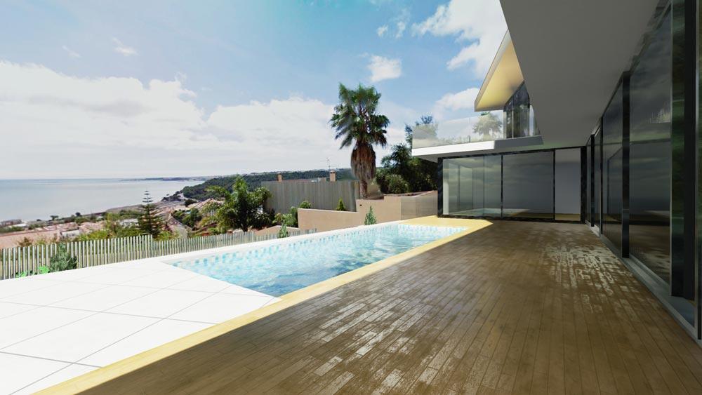 Casa jc il progetto della bellissima residenza moderna a for Casa moderna vetrate