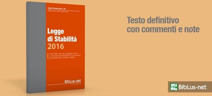 Legge di stabilità 2016 PDF