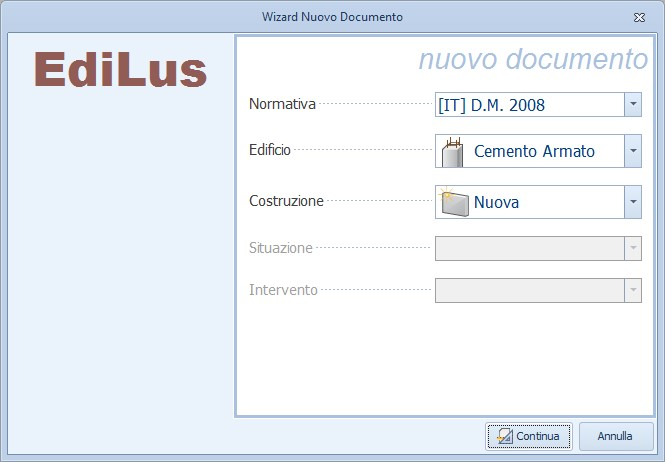 Nuovo documento EdiLus