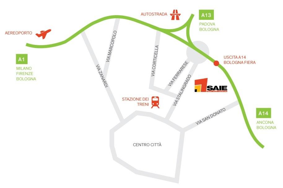 Mappa SAIE 2016 comearrivare