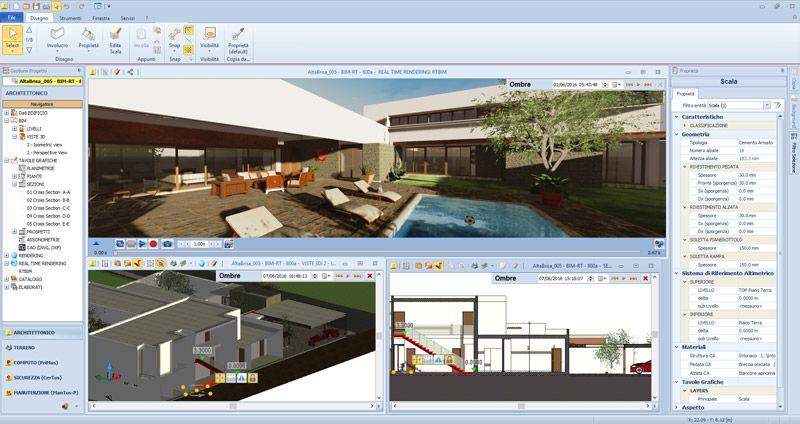Interfaccia del software Edificius