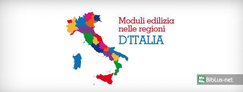 Moduli edilizia nelle regioni d'italia