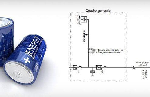 Schema elettrico sistema di accumulo