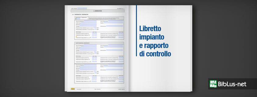 Libretto impianto e rapporto di controllo