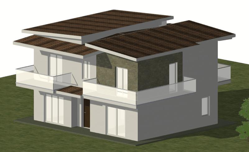 Questa immagine rappresenta una immagine 3D dell'abitazione
