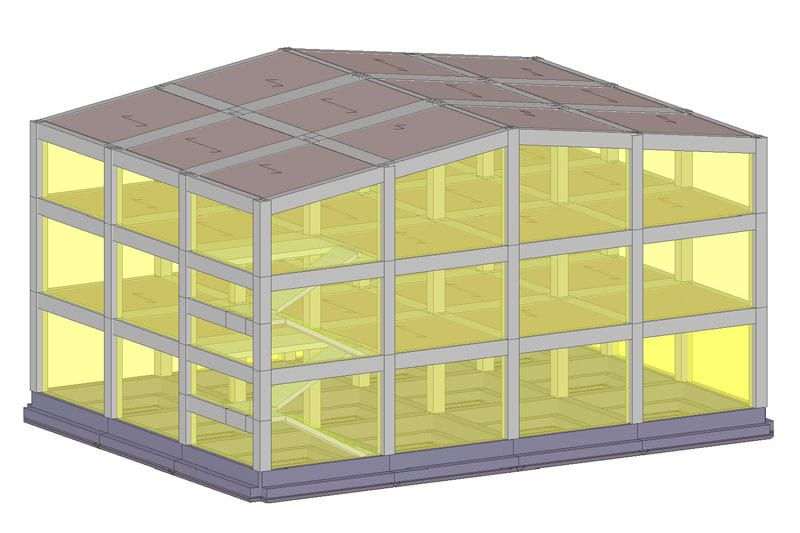 Immagine che rappresenta una vista 3D della struttura