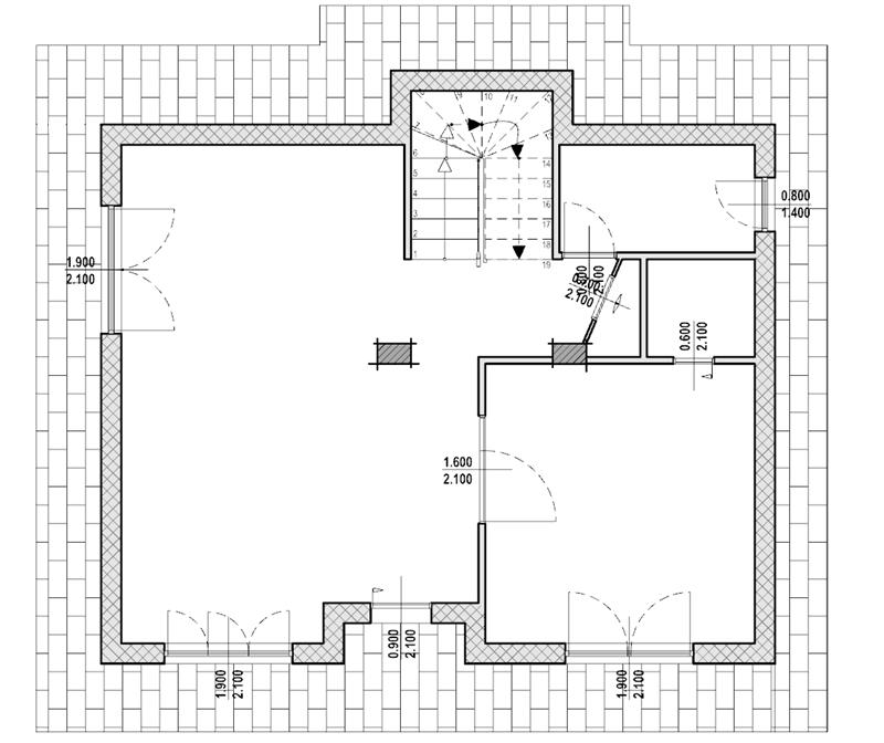 Questa immagine rappresenta la pianta del piano terra dell'abitazione