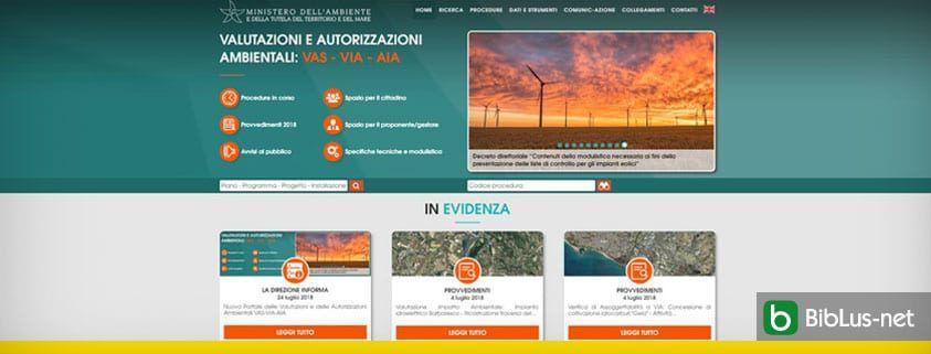 nuovo portale valutazioni ambientali