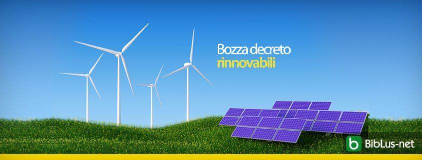 Bozza decreto rinnovabili