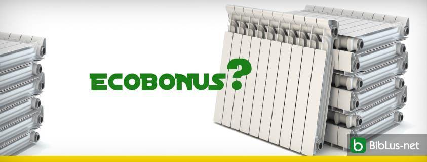 ecobonus sostituzione radiatori