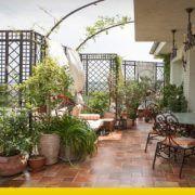 balcone chiuso in veranda ed adibito a serra