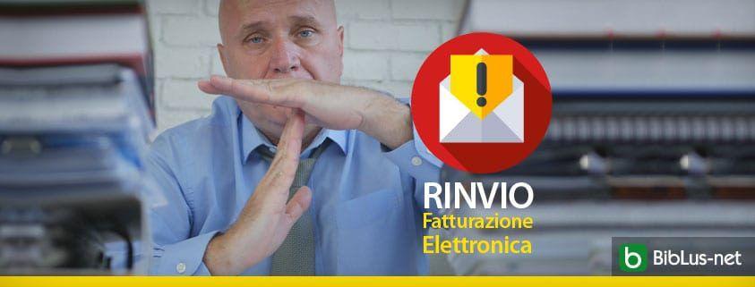 RINVIO Fatturazione Elettronica