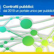 portale unico per pubblicità gare dei contratti pubblici