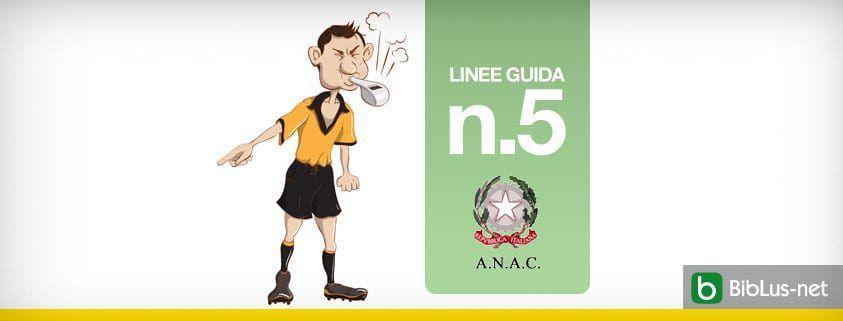 Linee guida n 5 ANAC