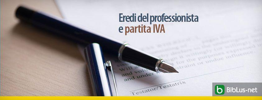 Eredi del professionista e partita IVA