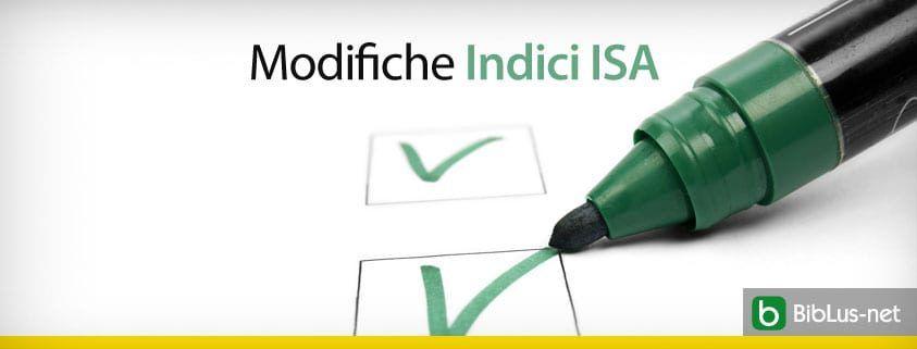 Modifiche Indici ISA
