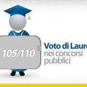 Voto di Laurea nei concorsi pubblici-105-110