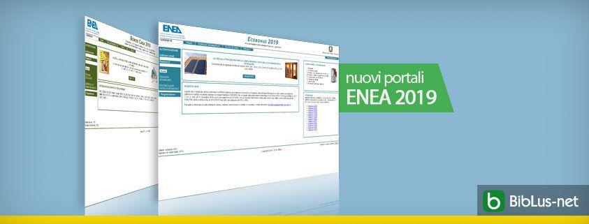 nuovi portali ENEA 2019