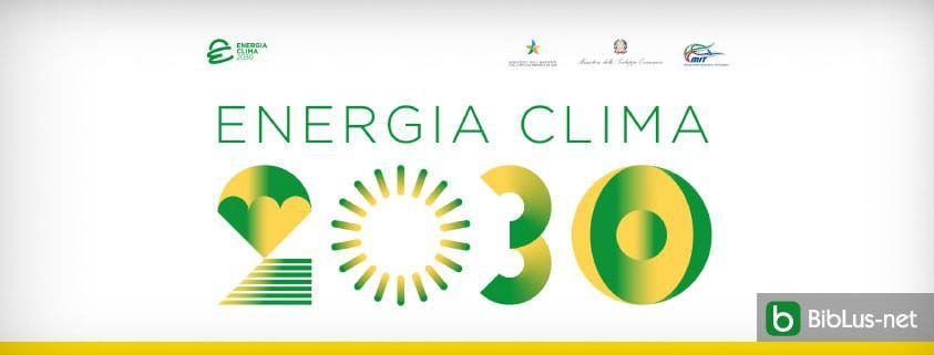 piano energie e clima 2030