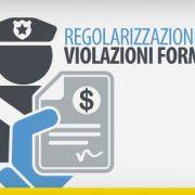 regolarizzazione violazioni formali