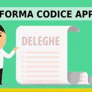 rifomra codice appalti legge deleghe