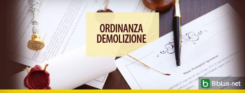 Ordinanza demolizione