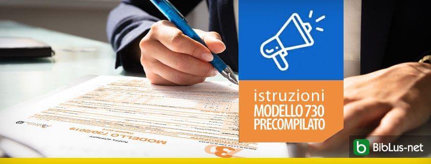 istruzioni MODELLO 730 PRECOMPILATO
