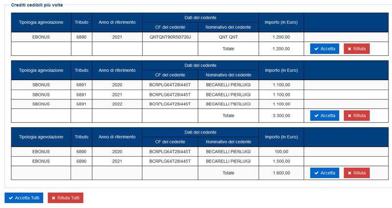 Piattaforma cessione crediti - Agenzia delle Entrate