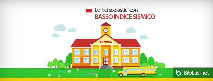 Edifici scolastici con basso indice sismico