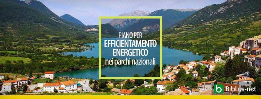 Piano per efficientamento energetico nei parchi nazionali