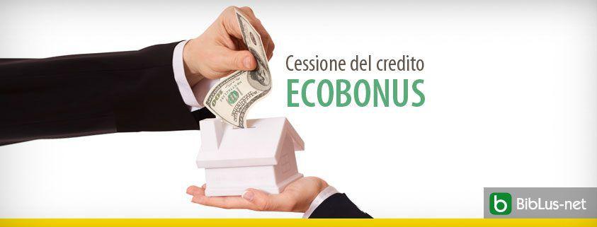 Cessione del credito Ecobonus