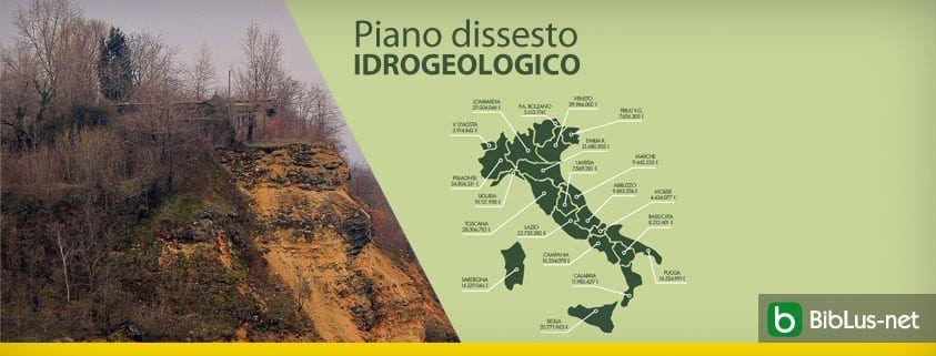 Piano dissesto idrogeologico