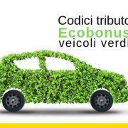 Codici tributo – ecobonus veicoli verdi