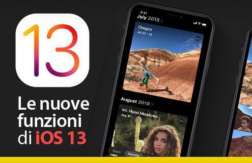 Le nuove funzioni di iOS 13