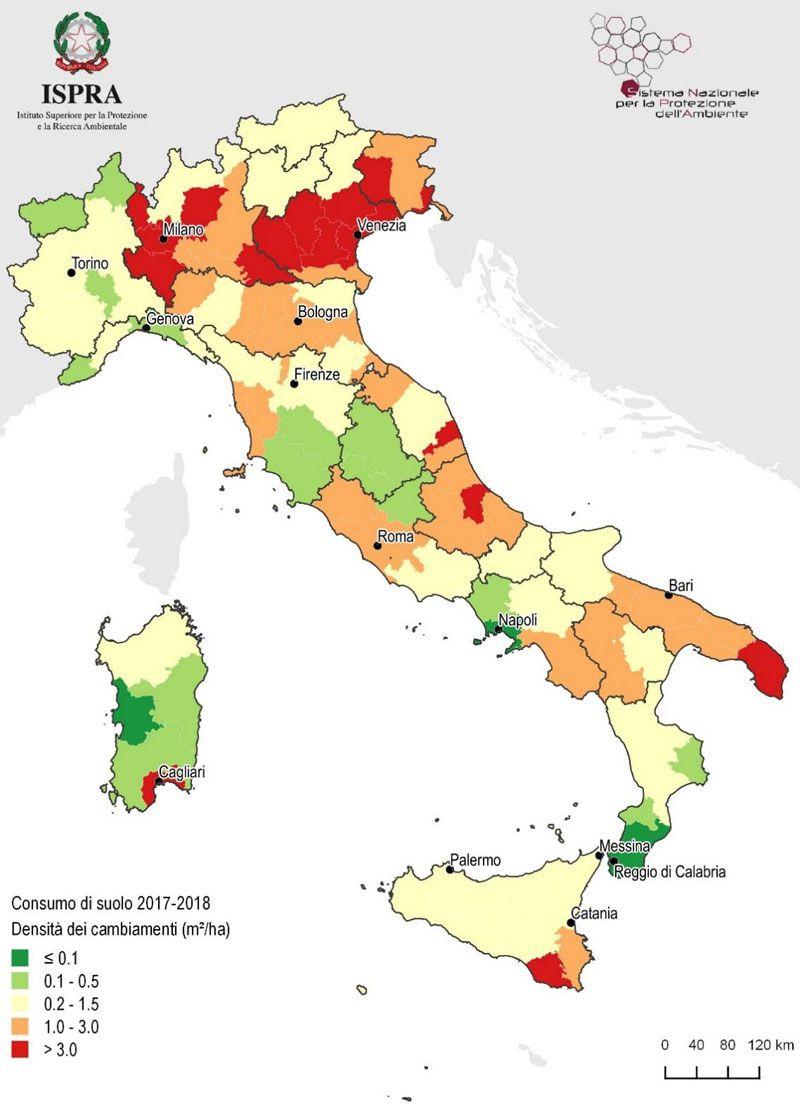 Consumo del suolo in Italia