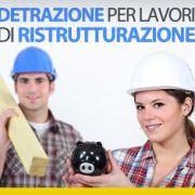 Detrazione per lavori di ristrutturazione