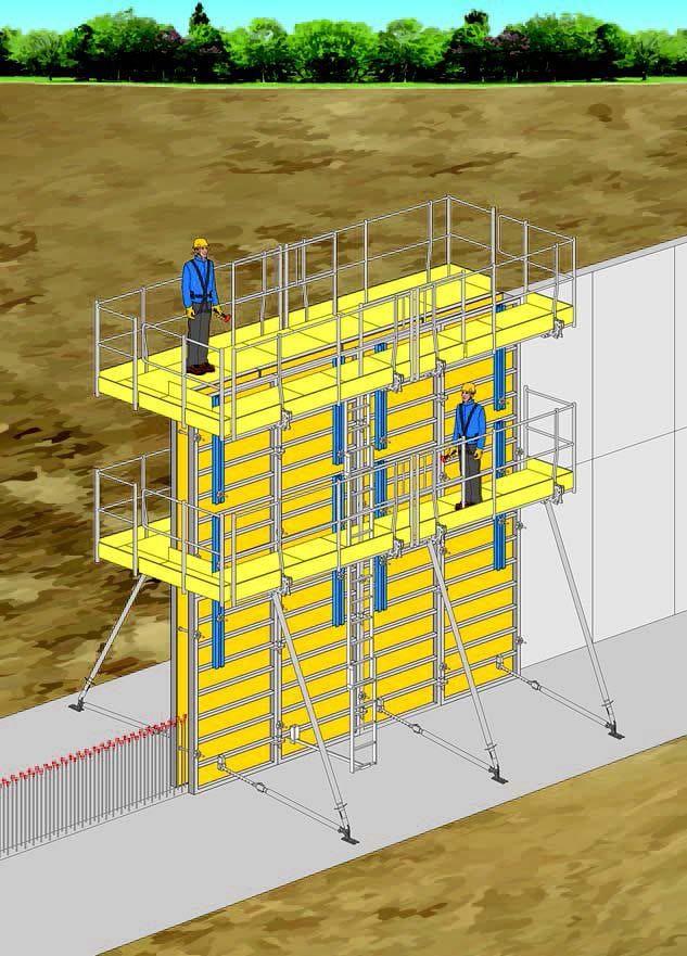 Immagine a colori che mostra una cassaforma verticale prefabbricata a telaio